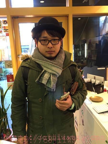 京都の美容師の前田さんがアポなしで来てくれました