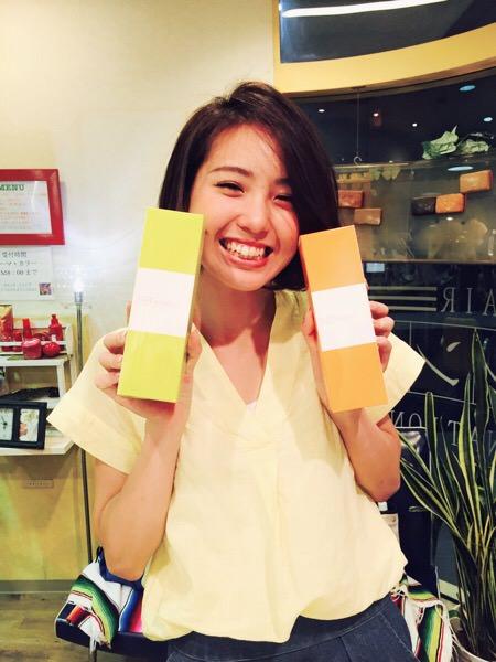 西村美咲ちゃんがテモイシャンプー買いに来てくれたよ。