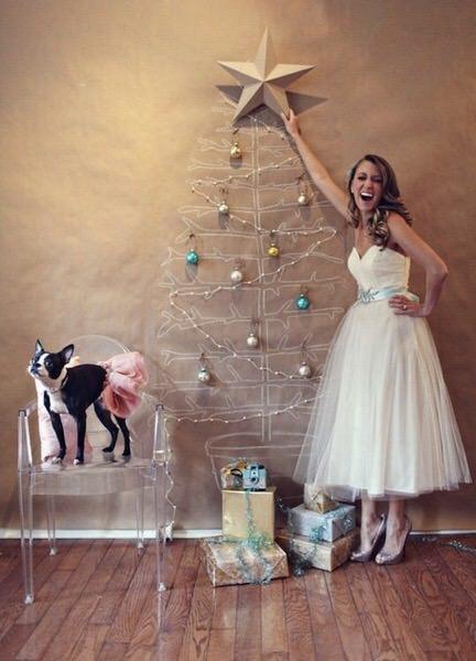 狭い部屋にはこんなクリスマスツリーはどう?