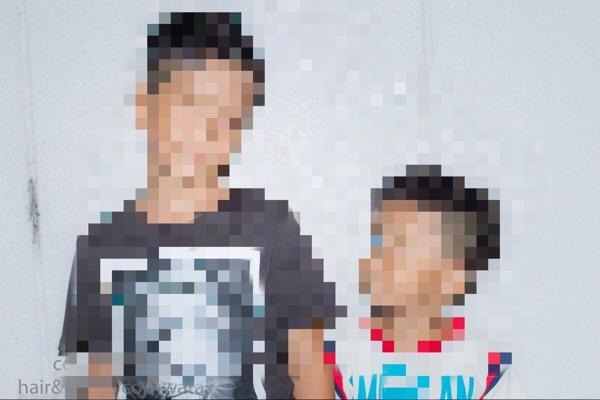 兄弟2人をガチカットして、変身させて写真撮ってみた。