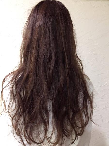 褪色しまくりの髪の毛に単品スロウのバイオレットを使ってみた。