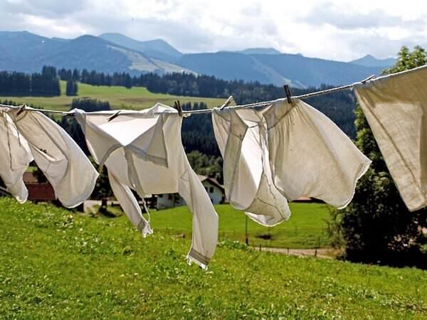 花粉をつきにくくする洗濯方法