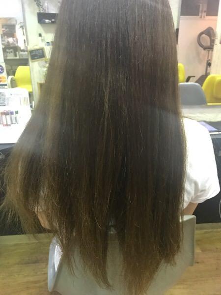 ブログを読んで来てくれた美容師さんの髪の毛をヘアドネーションさせてもらった。