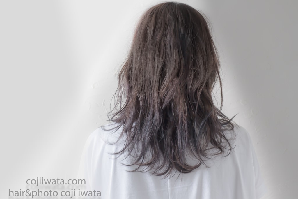 RブリーチとRカラーをしたお客様の帰ってきた髪の毛が綺麗すぎたので撮影してみた