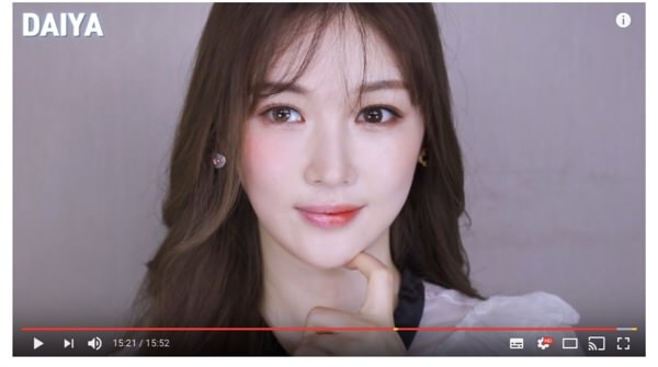 国によってこんだけどメイクは違う!?韓国と日本のメイクを半々でやる動画が面白い!