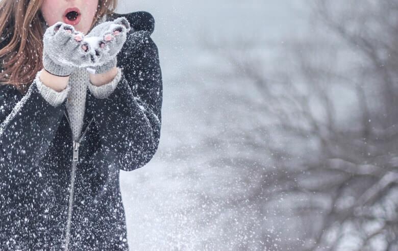 雪と髪の毛の関係性