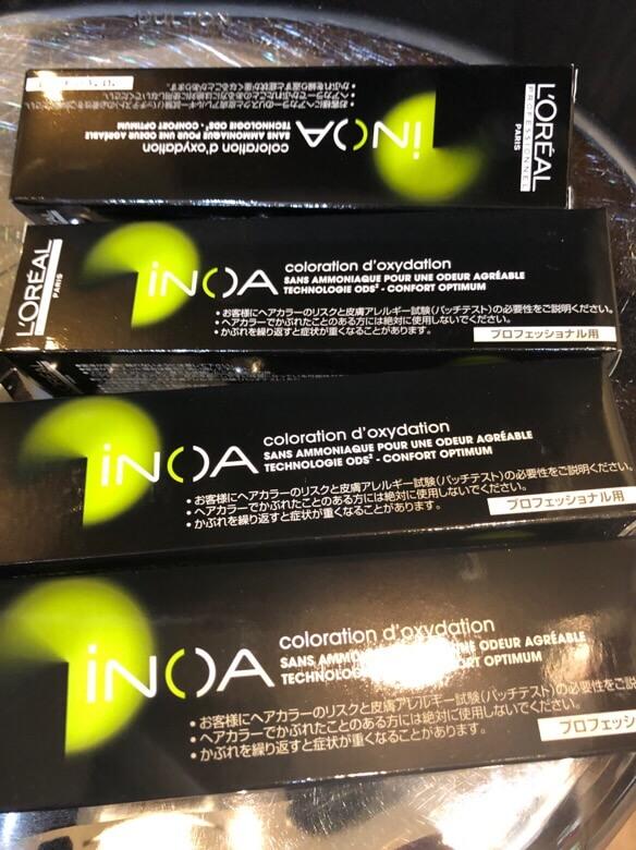 INOA カラーをRシステムトリートメントと酵素テクノロジーを入れてしてみた!