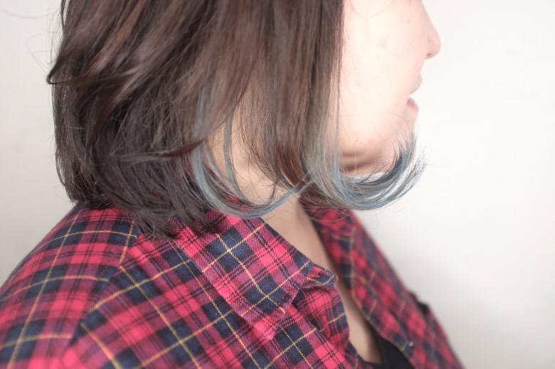 白髪染め層に人気なマニパニを使ったインナーカラー