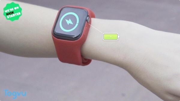 移動が多い人にオススメ!充電機能付きApple WatchのケースBatfree