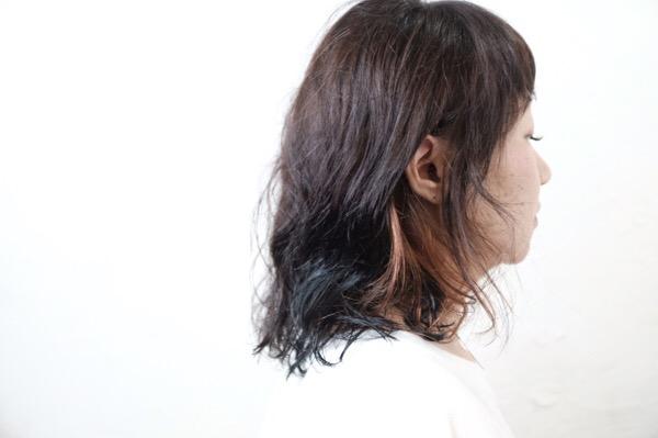 【大阪 今里 梅田茶屋町】大人世代にはインナーカラーがオススメ