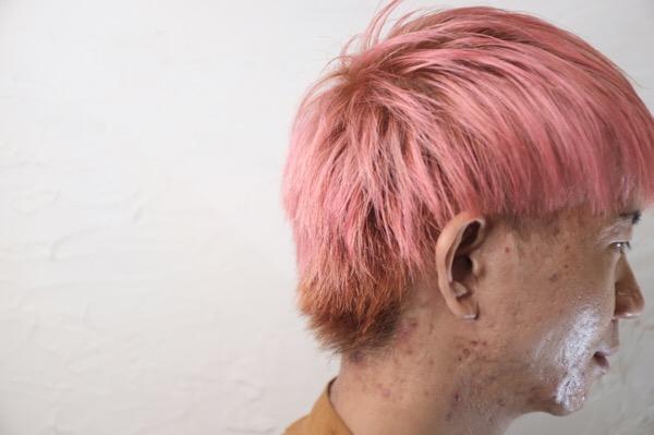 【大阪 今里 梅田茶屋町】ブリーチ必須のマニパニを使ったピンクヘア