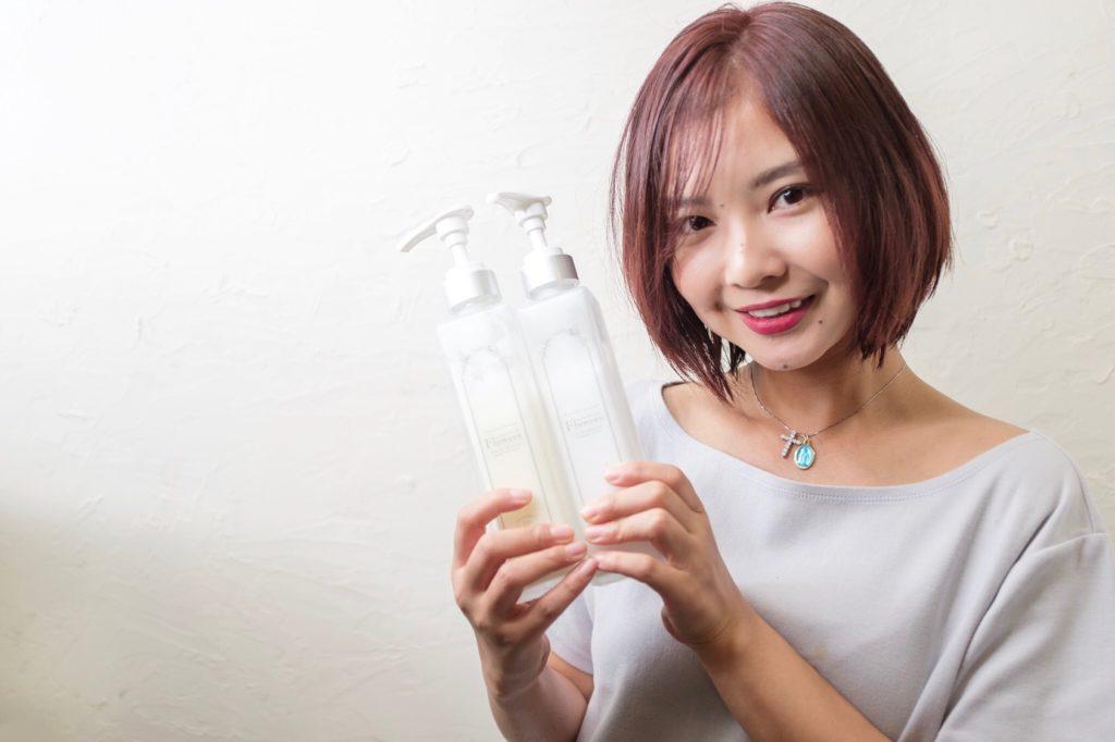 【大阪 今里 梅田 茶屋町】女優アズリナさんのカラーをフュージョニストでローズピンクにさせてもらった