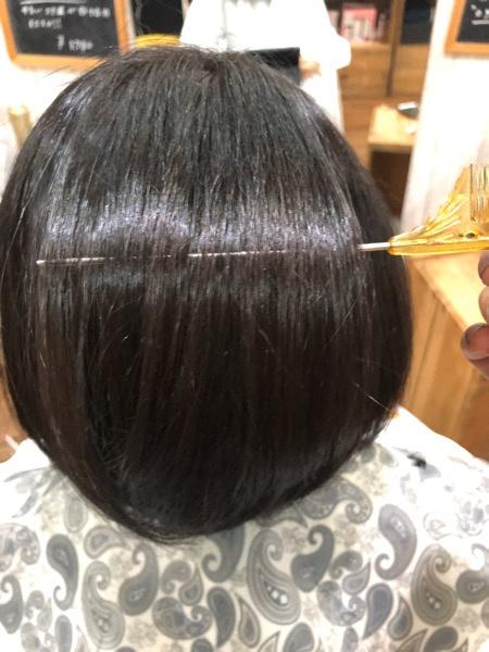 新しく髪質改善カラーのテストをしています