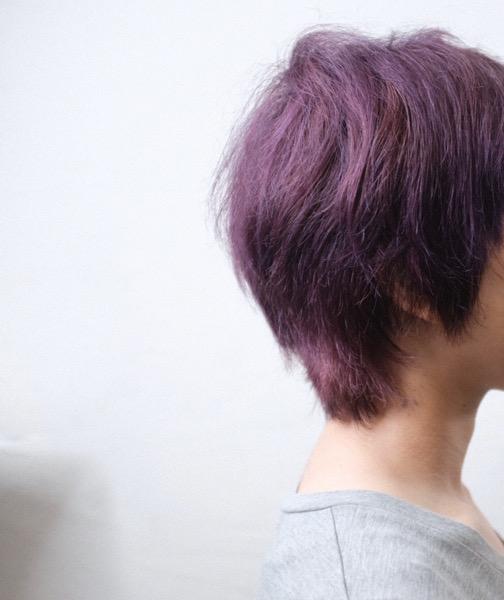 【大阪今里 梅田茶屋町】マニパニで作る濃厚なヴァイオレットヘア
