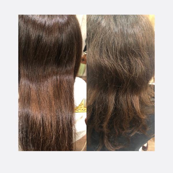 【大阪】Lulu ベホマでくせ毛の髪の毛を綺麗に縮毛矯正してみた!