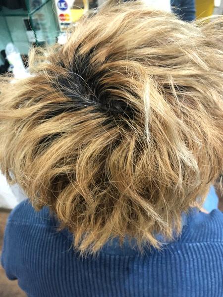 ブリーチした髪の毛をアイアンアッシュにしてみた