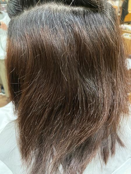 【大阪 今里】ジュエリーシステムトリートメントで作る艶々の白髪染め