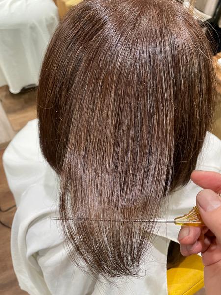 【大阪 今里】大人の白髪染めには艶感を出すとイメージは変わる!?