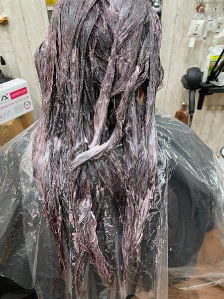 【大阪 今里】縮毛矯正をした髪の毛にはベホマラーでカラーをするのがオススメ