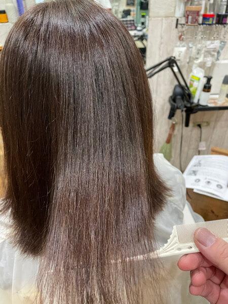 【大阪 今里】癖で乾燥しやすい大人世代の白髪染めにはベホマトリートメントで収まり良くするのがオススメ