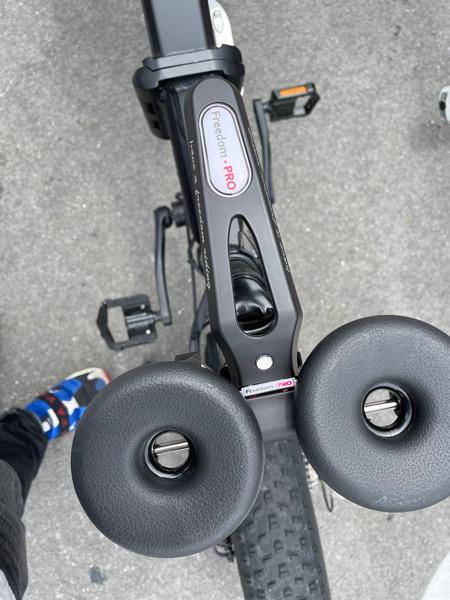 自転車のサドルがほぼミッ○ーになった