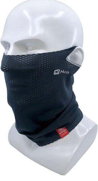 自転車通勤、運動の際にオススメのエヌリットのナインクールマスク