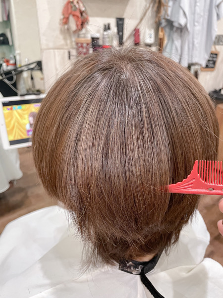 【大阪 今里】夏の紫外線で傷んだ髪の毛には明るい白髪染めとベホマトリートメントがオススメ