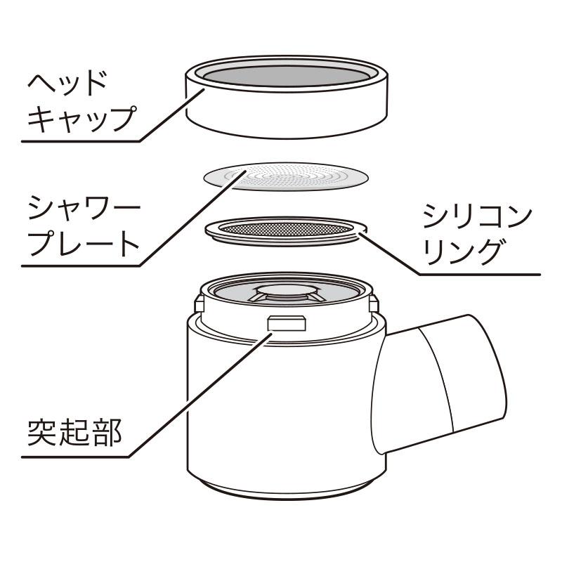 ホリスティックキュア シャワーヘッド 交換用キュアクリスタルフィルター
