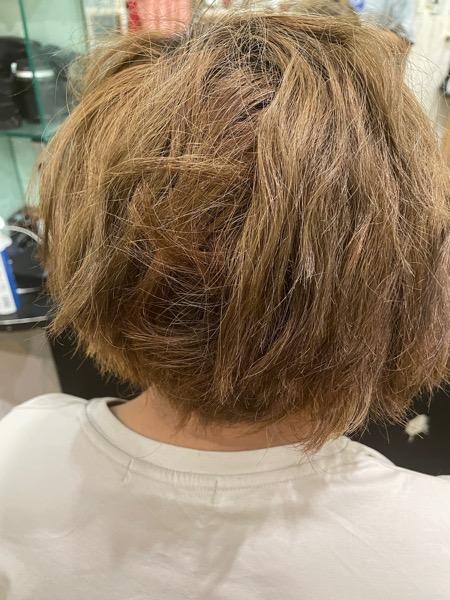 【大阪 今里】ブリーチ毛のツイストスパイラルパーマにはビータークリームなどのヘアケアがオススメ